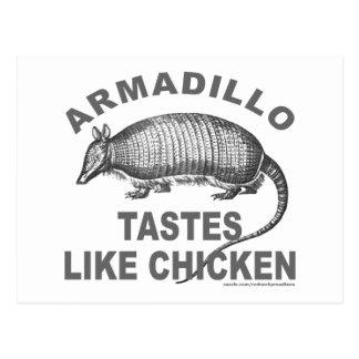 ARMADILLO TASTES LIKE CHICKEN POSTCARD