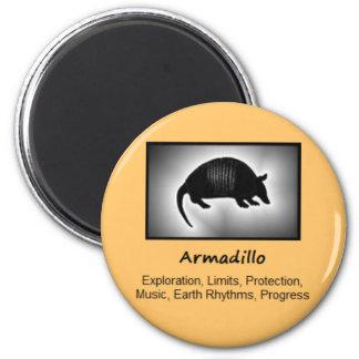 Armadillo Totem Animal Spirit Meaning 2 Inch Round Magnet