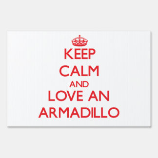 Armadillo Lawn Signs