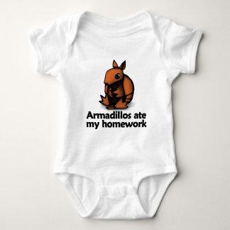 Armadillos ate my homework baby bodysuit