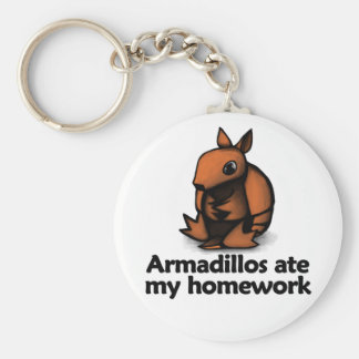 Armadillos ate my homework keychain