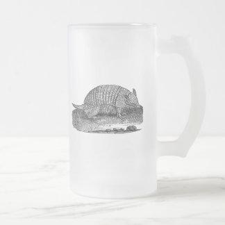 Armadillos retros de la antigüedad del armadillo d taza cristal mate