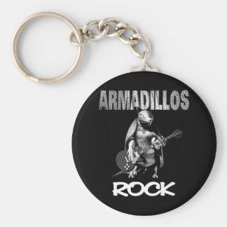 Armadillos Rock Keychain