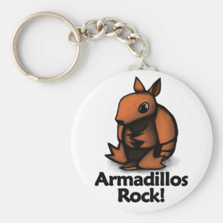 Armadillos Rock! Keychain