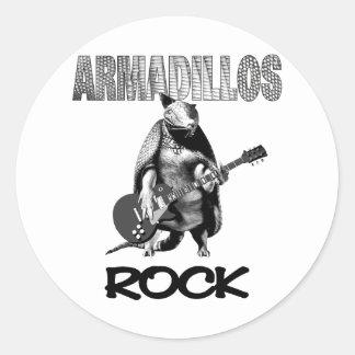 Armadillos Rock Classic Round Sticker