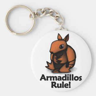 Armadillos Rule! Keychain