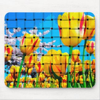 Armadura amarilla del tulipán tapete de ratones