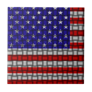 Armadura americana azulejo cuadrado pequeño