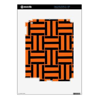 Armadura anaranjada y negra de T iPad 2 Calcomanías