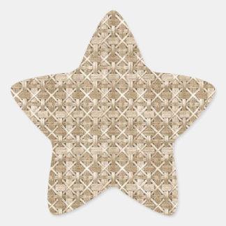 Armadura atada complejo beige de Basketweave Pegatina En Forma De Estrella