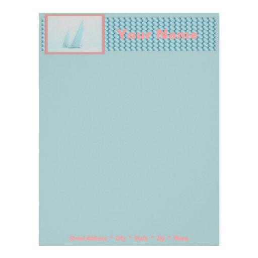 Armadura azul del papel con membrete membretes personalizados