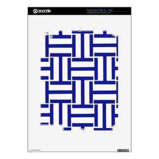 Armadura azul y blanca de T iPad 2 Skin