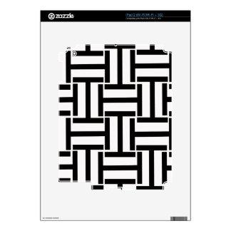 Armadura blanco y negro de T iPad 2 Calcomanía