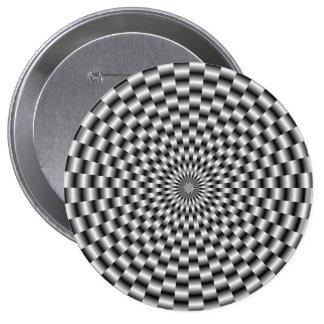 Armadura circular en botón monocromático pin redondo de 4 pulgadas