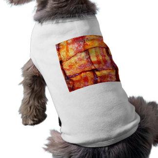 Armadura cocinada del tocino camisetas de mascota