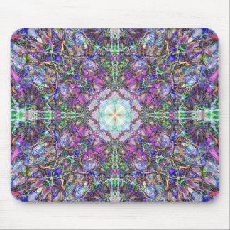 Armadura colorida abstracta de la mandala alfombrilla de raton