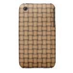 Armadura de cesta de cuero iPhone 3 Case-Mate carcasas