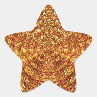 Armadura de cesta de la araña: Atrae n conserva Pegatina En Forma De Estrella
