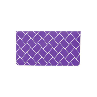 Armadura de cesta de la púrpura real funda para chequera