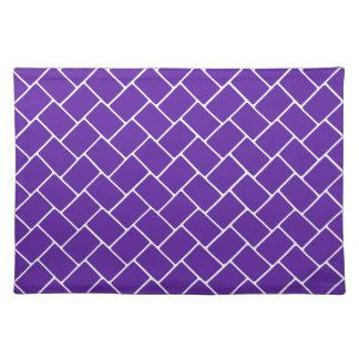 Armadura de cesta de la púrpura real manteles