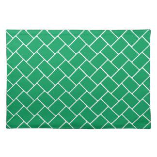 Armadura de cesta esmeralda manteles individuales