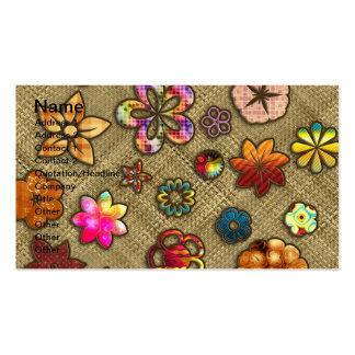 armadura de cesta psicodélica de la flor tarjetas de visita