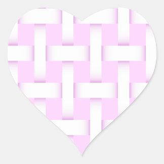 Armadura de cesta rosada y blanca calcomania corazon