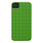 Armadura de cesta verde iPhone 4 Case-Mate cárcasas