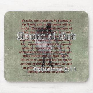 Armadura de dios, 6:10 de Ephesians - 18, soldado Alfombrillas De Ratón