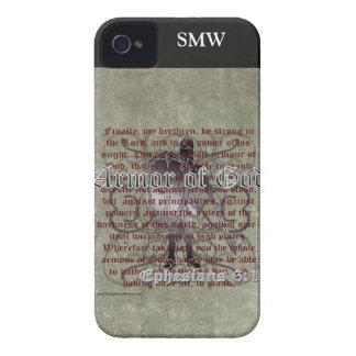 Armadura de dios, 6:10 de Ephesians - 18, soldado Funda Para iPhone 4 De Case-Mate