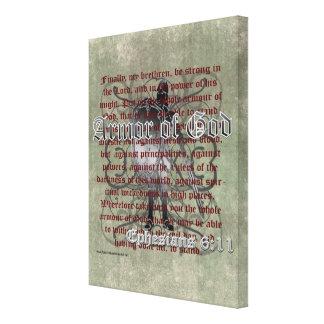Armadura de dios, 6:10 de Ephesians - 18, soldado  Impresion De Lienzo