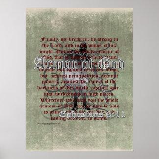 Armadura de dios, 6:10 de Ephesians - 18, soldado Póster