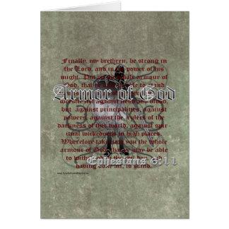 Armadura de dios, 6:10 de Ephesians - 18, soldado Tarjeta De Felicitación