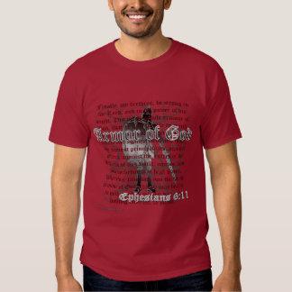Armadura de dios, camiseta del verso de la biblia remeras
