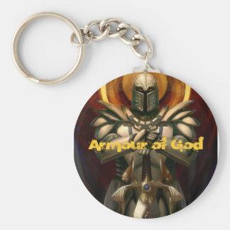 Armadura de dios llaveros personalizados