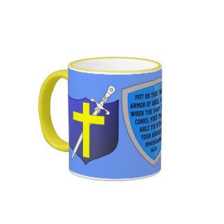 armadura de la taza de dios