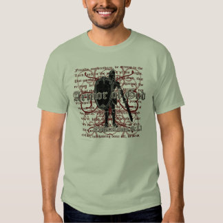 Armadura de las camisetas del cristiano de dios remera