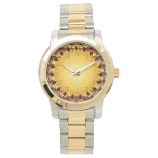 Armadura de oro del diamante de Brown Relojes De Mano