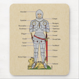 Armadura de placa, circa 1430, Mousepad