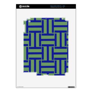 Armadura del azul y del verde de guisante T Skin Para El iPad 2