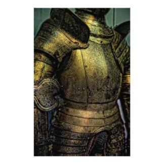 Armadura del caballero medieval papeleria de diseño