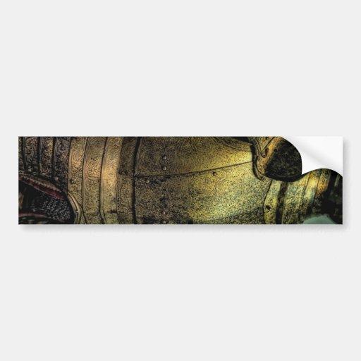 Armadura del caballero medieval pegatina para auto