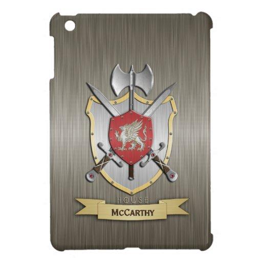 Armadura del escudo de la batalla de Sigil del gri iPad Mini Protector