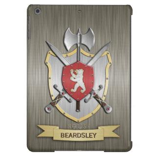 Armadura del escudo de la batalla de Sigil del oso Funda Para iPad Air