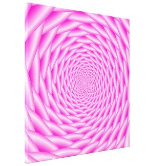 Armadura del espiral del rosa de la impresión de impresion de lienzo