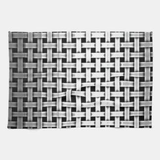 Armadura del metal plateado toallas de cocina