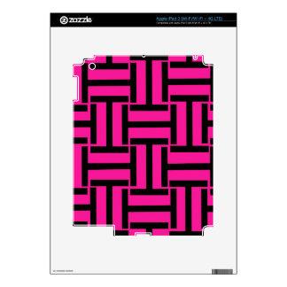 Armadura del negro y de las rosas fuertes T iPad 3 Skins