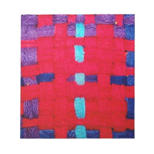 Armadura del rojo, púrpura y azul bloc