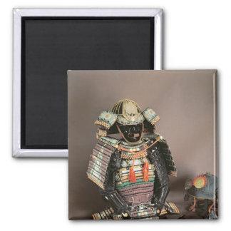 Armadura del samurai, período de Muromachi c.1384 Imán Cuadrado