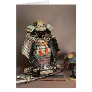 Armadura del samurai, período de Muromachi c.1384 Tarjeta De Felicitación